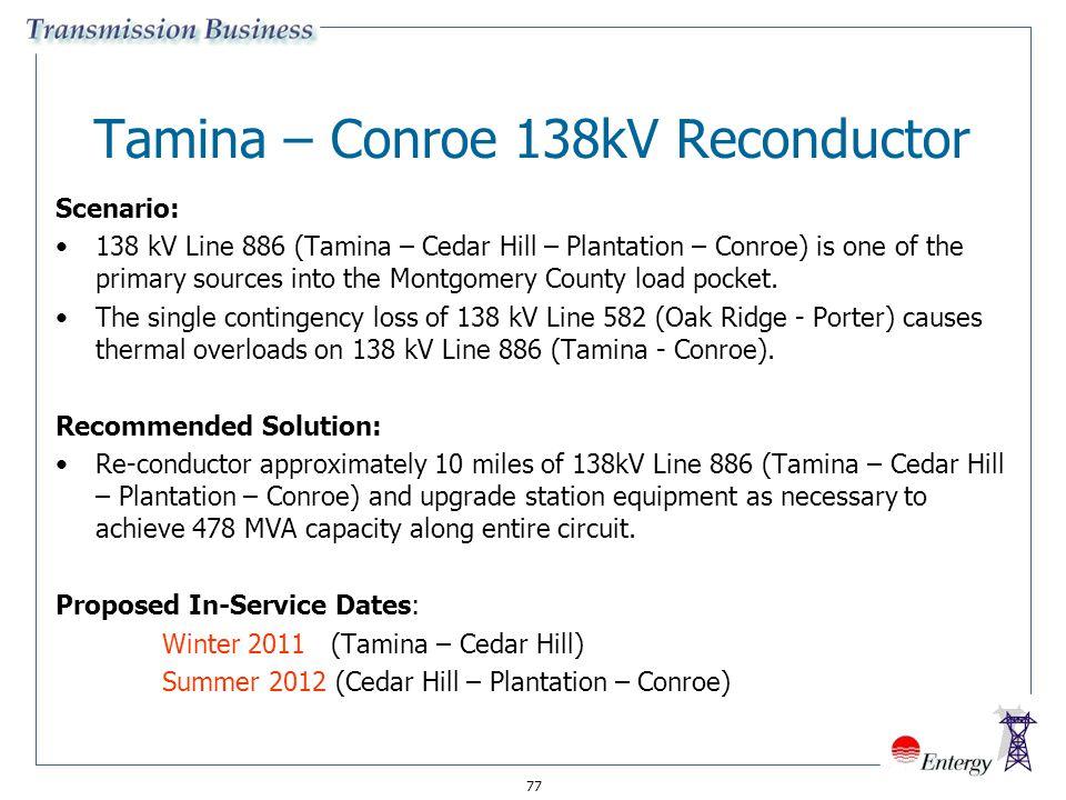 Tamina – Conroe 138kV Reconductor