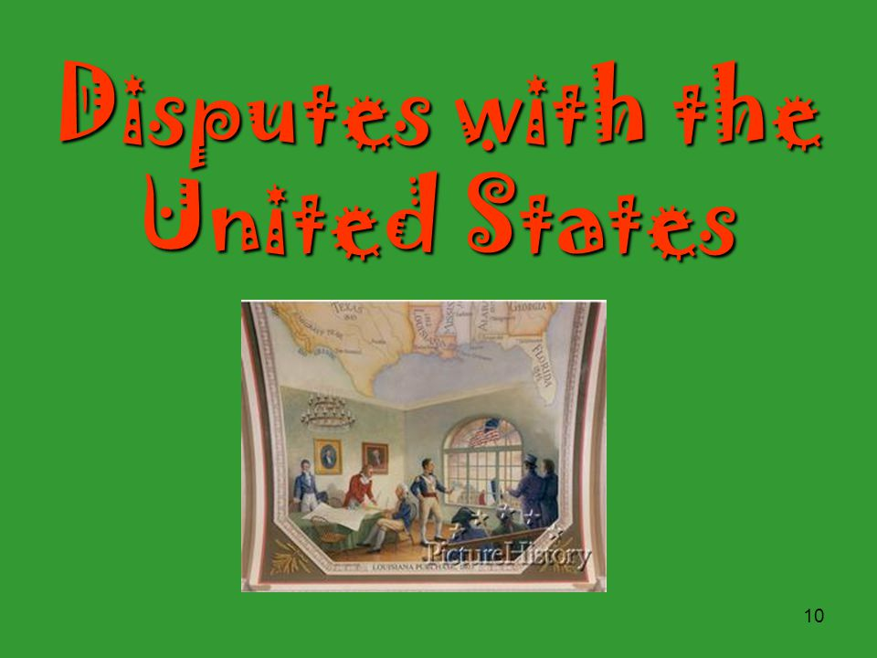 Disputes with the United States