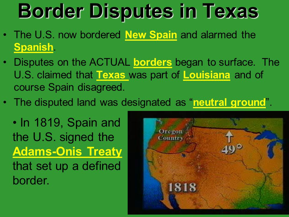 Border Disputes in Texas