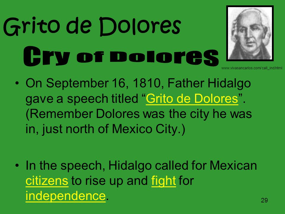 Grito de Dolores Cry of Dolores