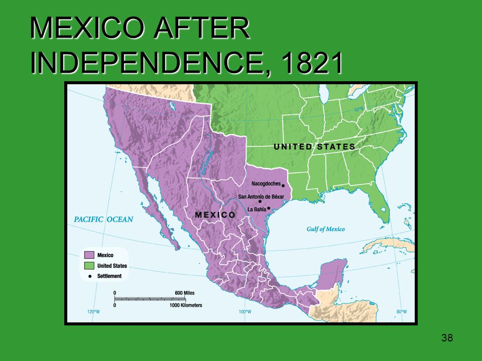 MEXICO AFTER INDEPENDENCE, 1821