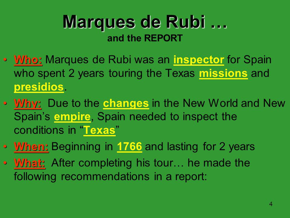 Marques de Rubi … and the REPORT
