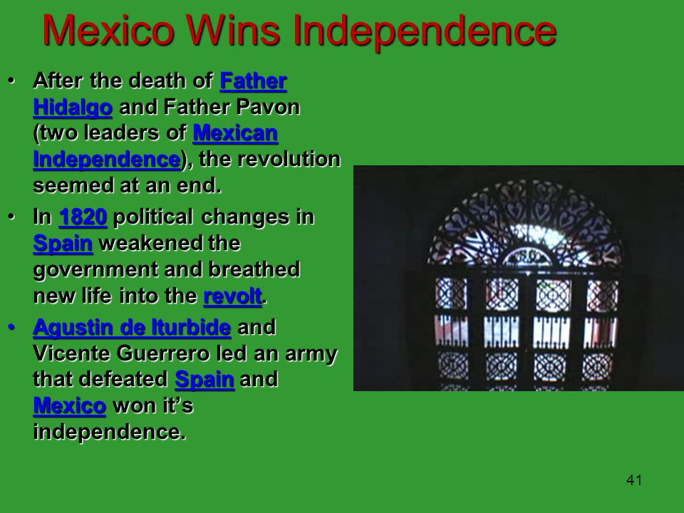 Mexico Wins Independence