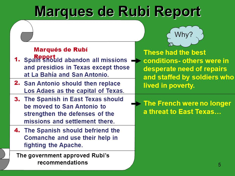 The government approved Rubi's recommendations