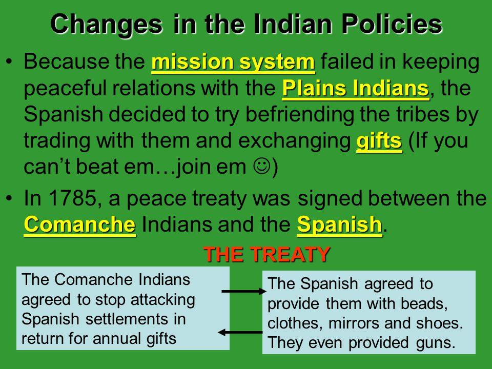 Changes in the Indian Policies