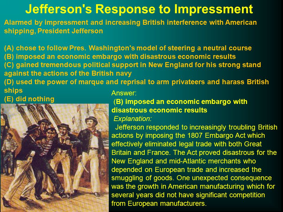 Jefferson s Response to Impressment