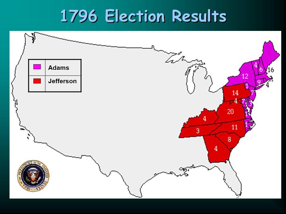 1796 Election Results Adams Jefferson