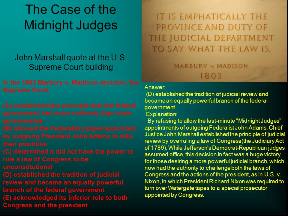 The Case of the Midnight Judges
