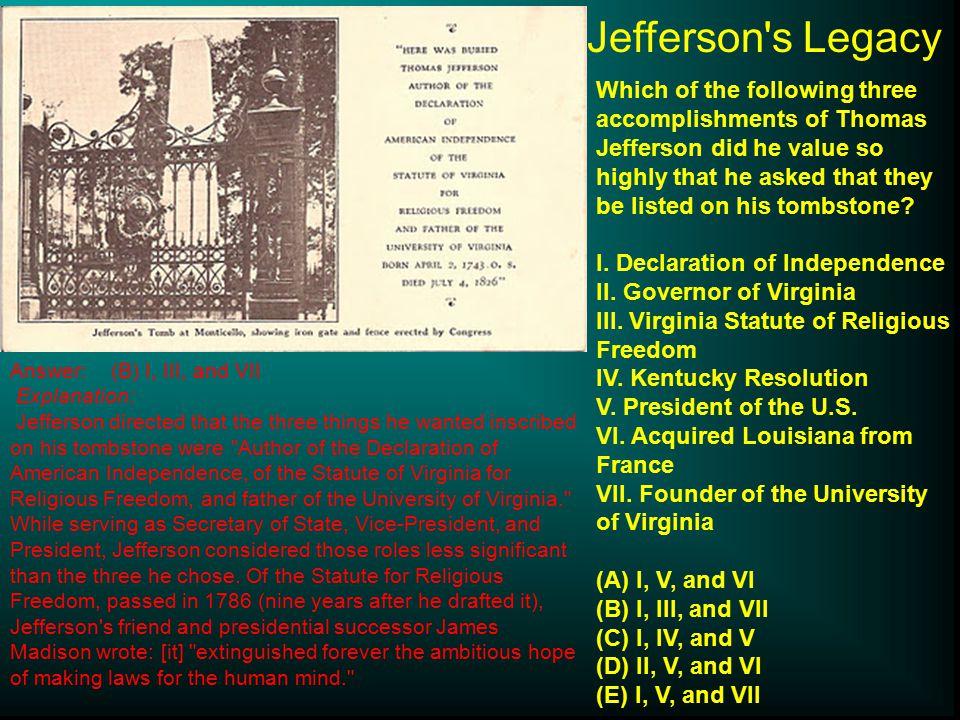 Jefferson s Legacy