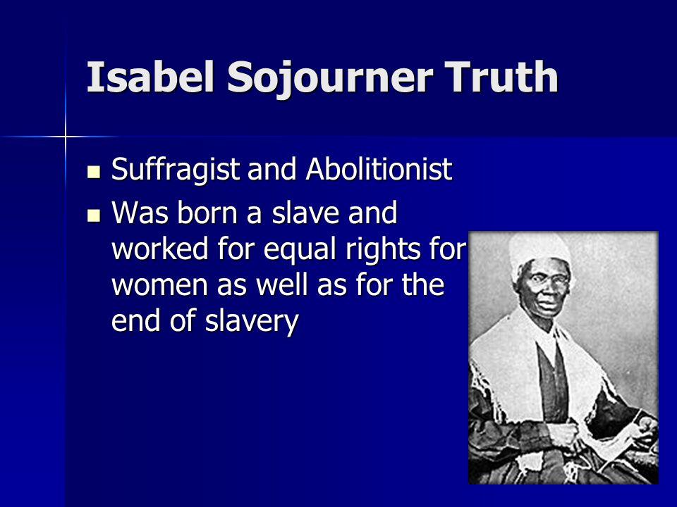 Isabel Sojourner Truth