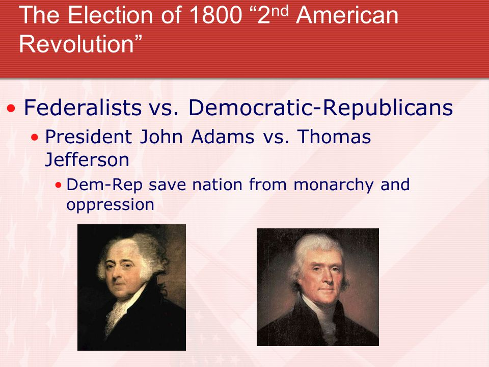 The Election of 1800 2nd American Revolution