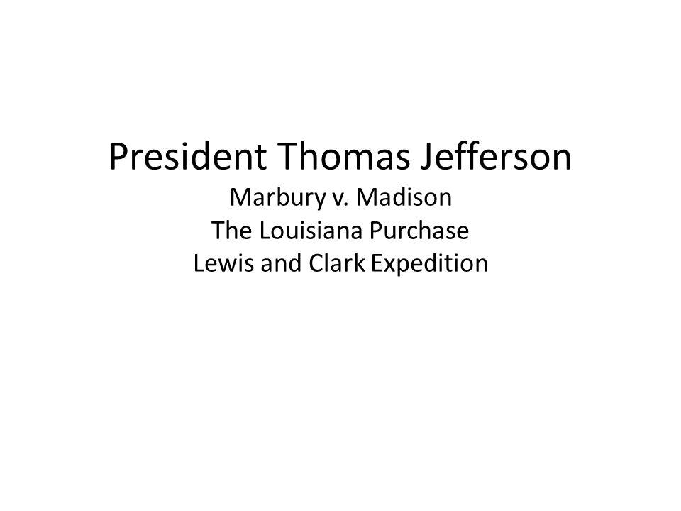 President Thomas Jefferson Marbury v
