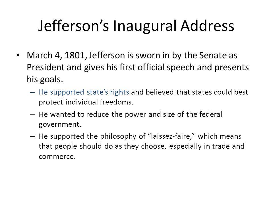 Jefferson's Inaugural Address