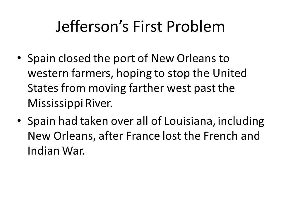 Jefferson's First Problem