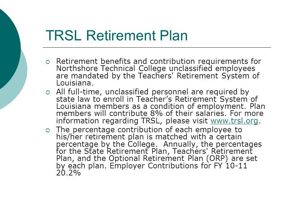 TRSL Retirement Plan