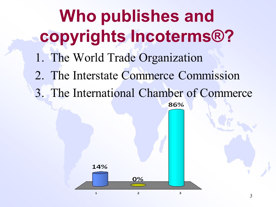 Who publishes and copyrights Incoterms®