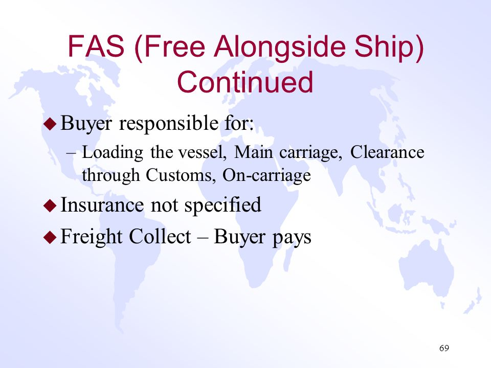 FAS (Free Alongside Ship) Continued