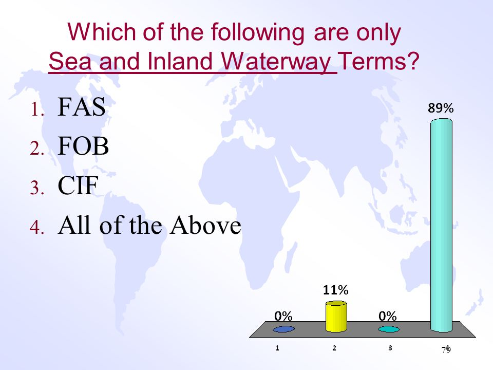 Which of the following are only Sea and Inland Waterway Terms
