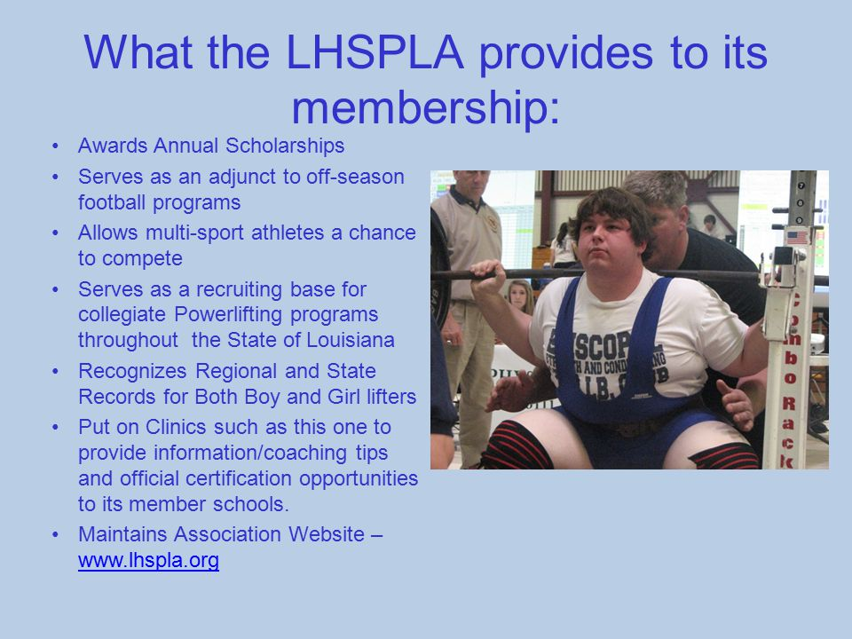What the LHSPLA provides to its membership: