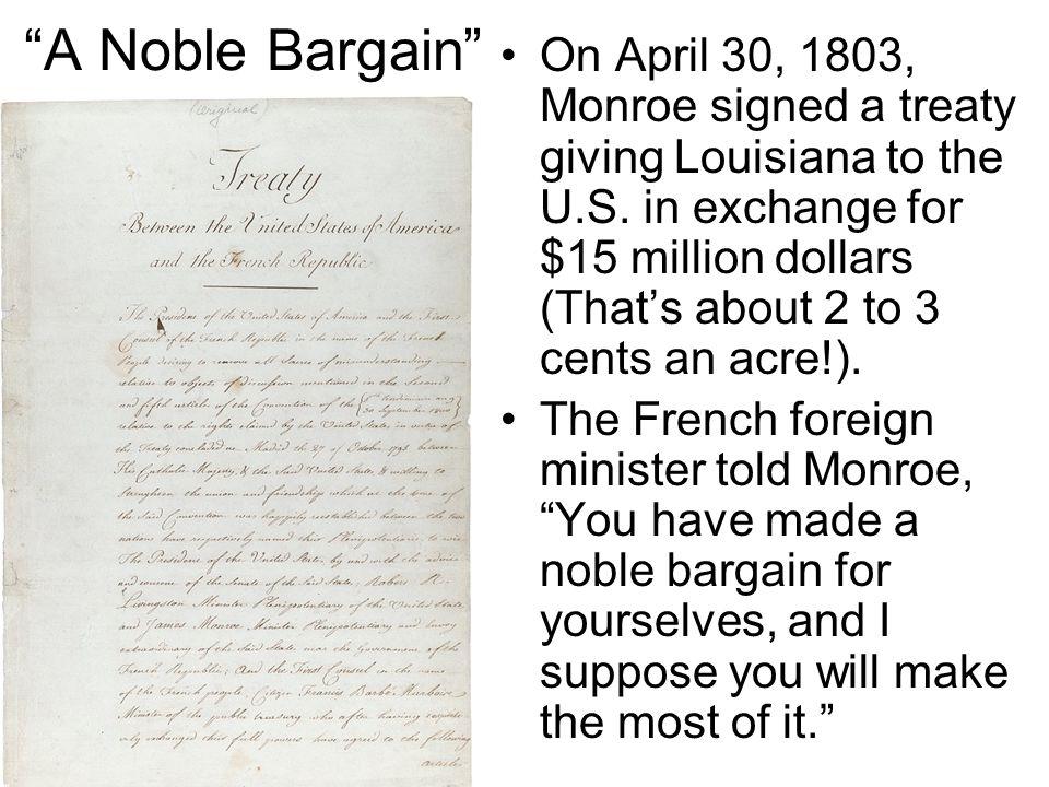A Noble Bargain