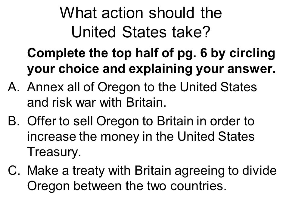 What action should the United States take