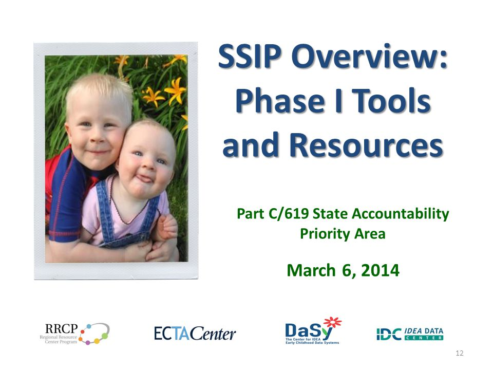 SSIP Overview: Phase I Tools and Resources