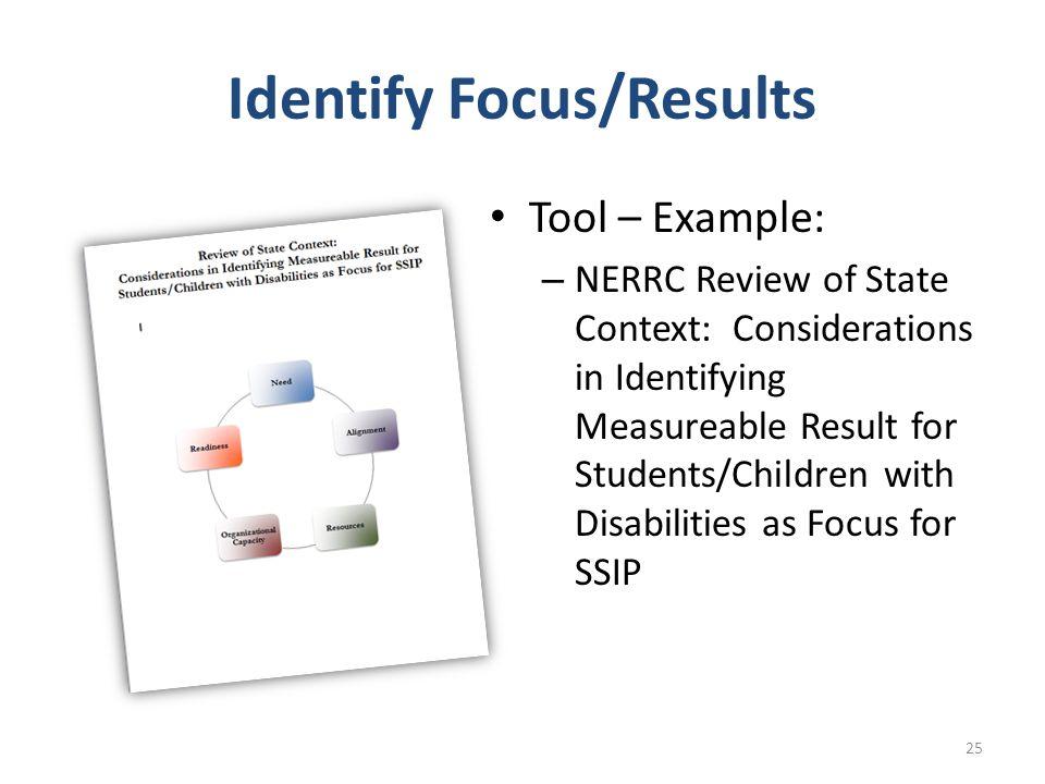 Identify Focus/Results