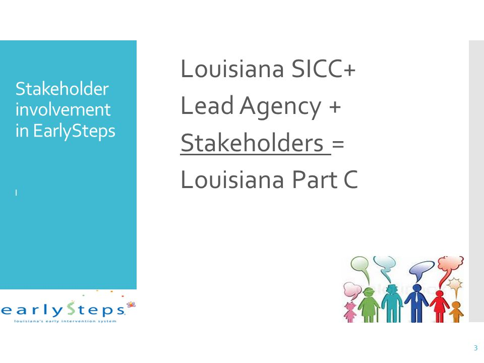 Stakeholder involvement in EarlySteps