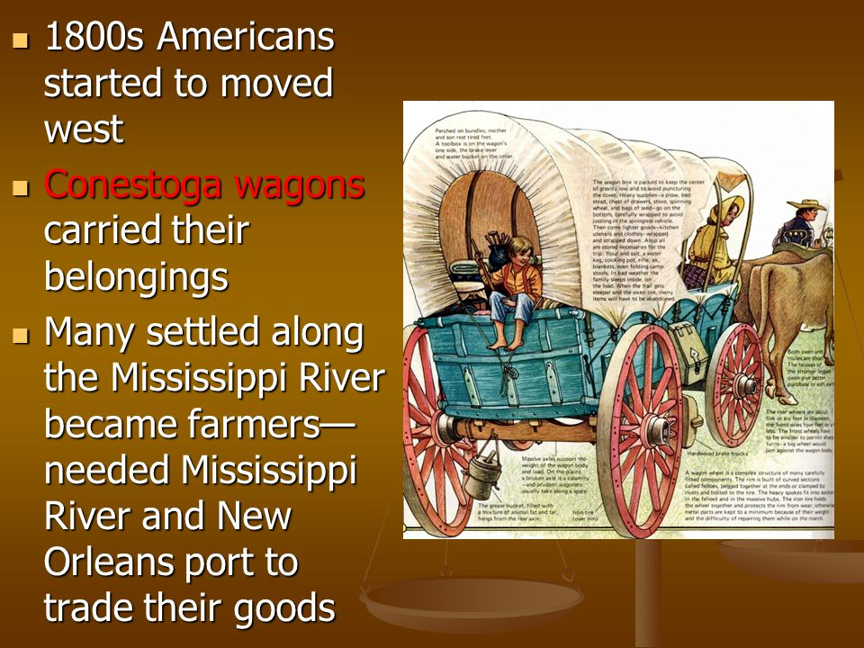 1800s Americans started to moved west