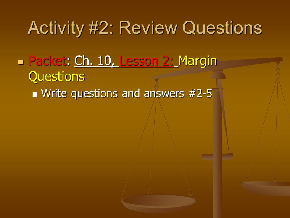 Activity #2: Review Questions