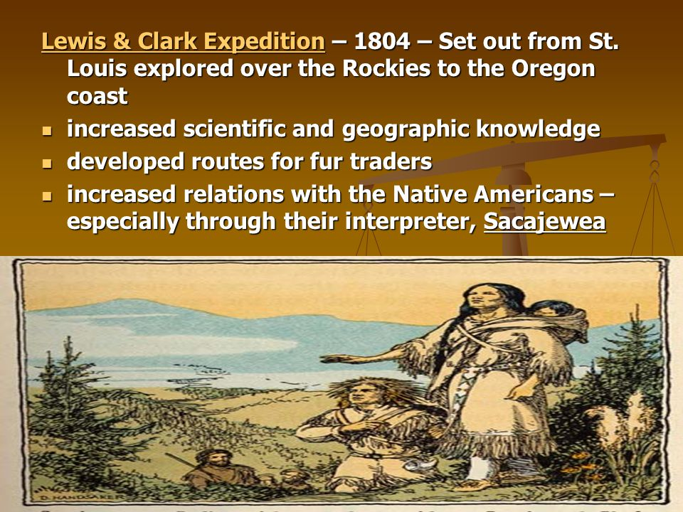 Lewis & Clark Expedition – 1804 – Set out from St
