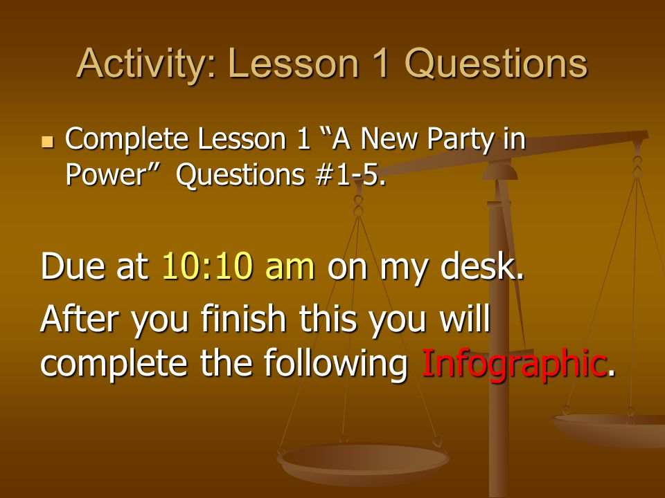 Activity: Lesson 1 Questions