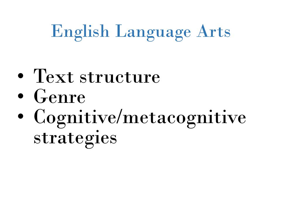 Cognitive/metacognitive strategies