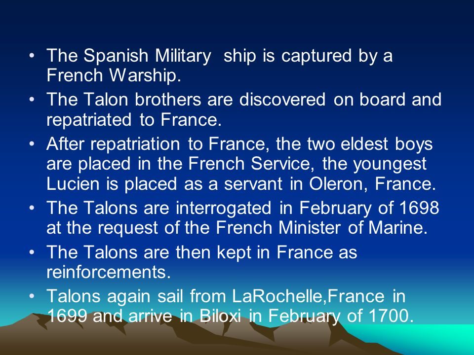The Spanish Military ship is captured by a French Warship.