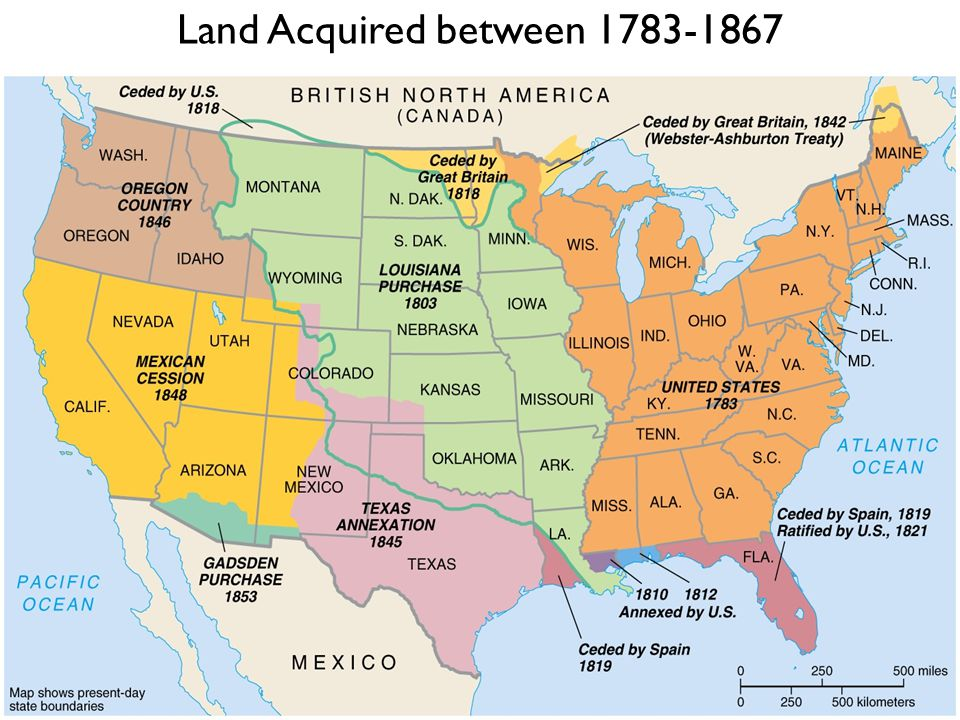 Land Acquired between 1783-1867