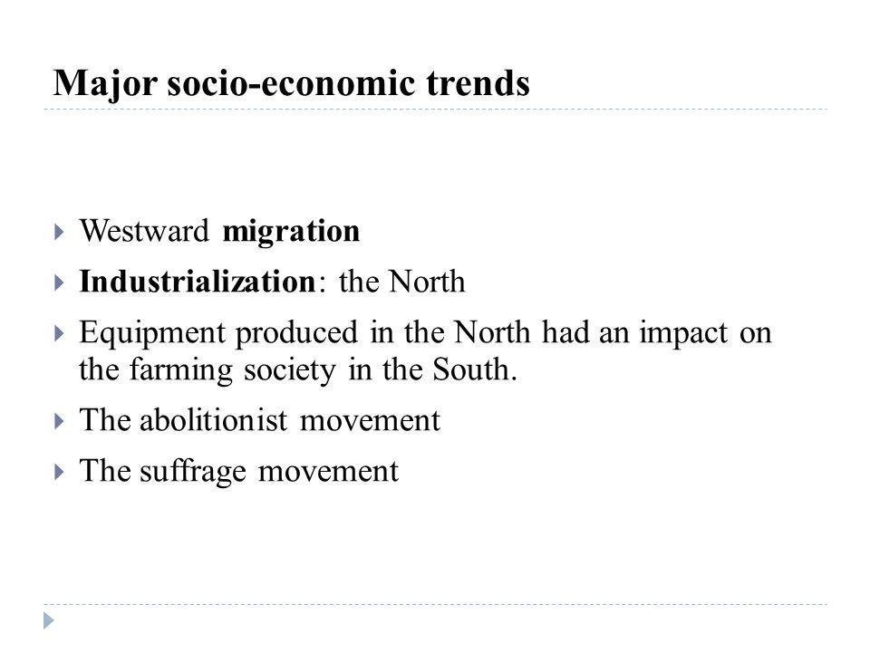 Major socio-economic trends