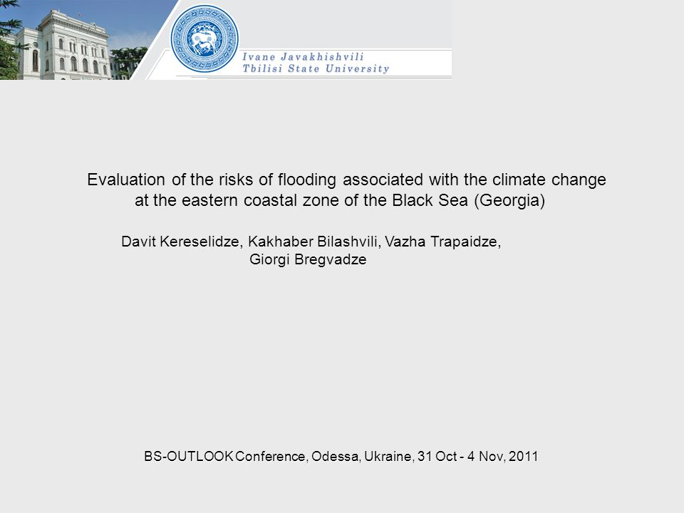 Evaluation of the risks of flooding associated with the climate change