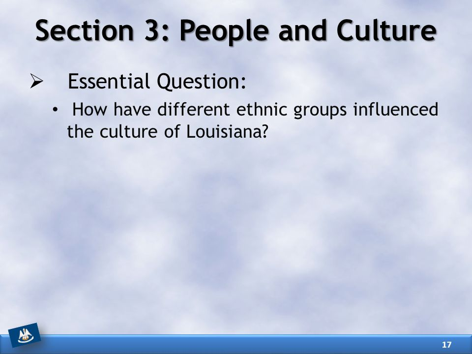 Section 3: People and Culture