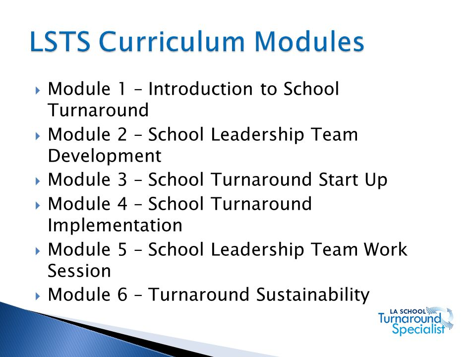 LSTS Curriculum Modules