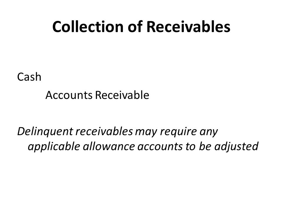 Collection of Receivables