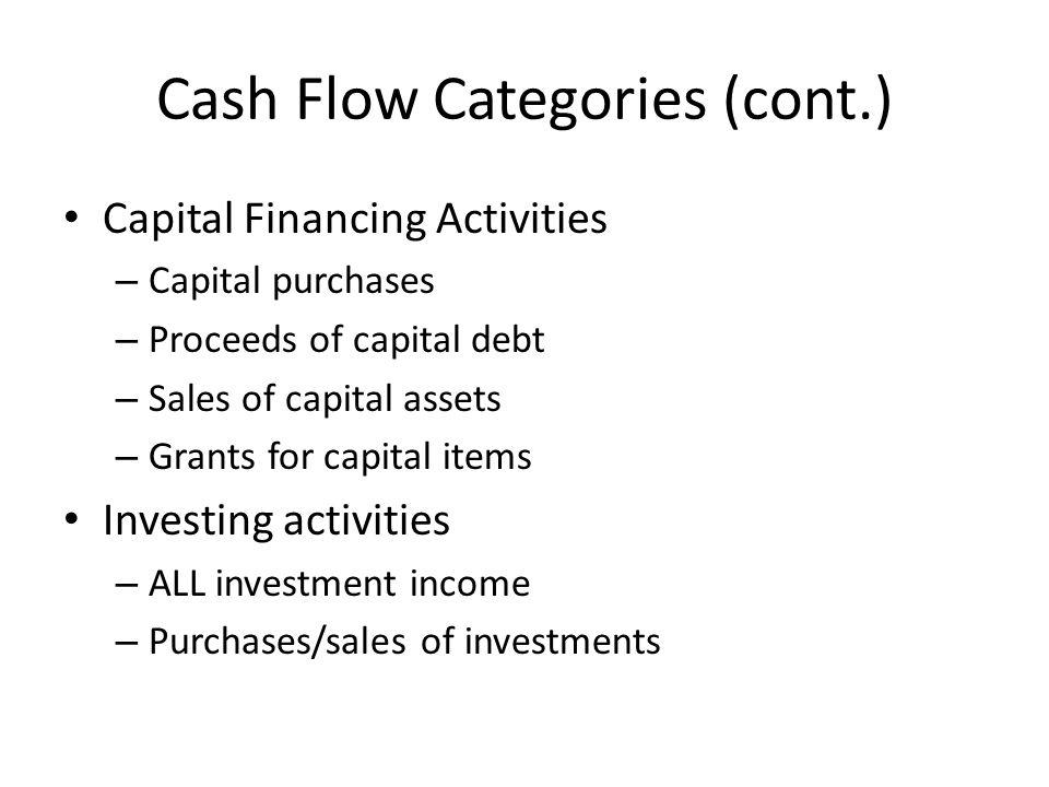 Cash Flow Categories (cont.)