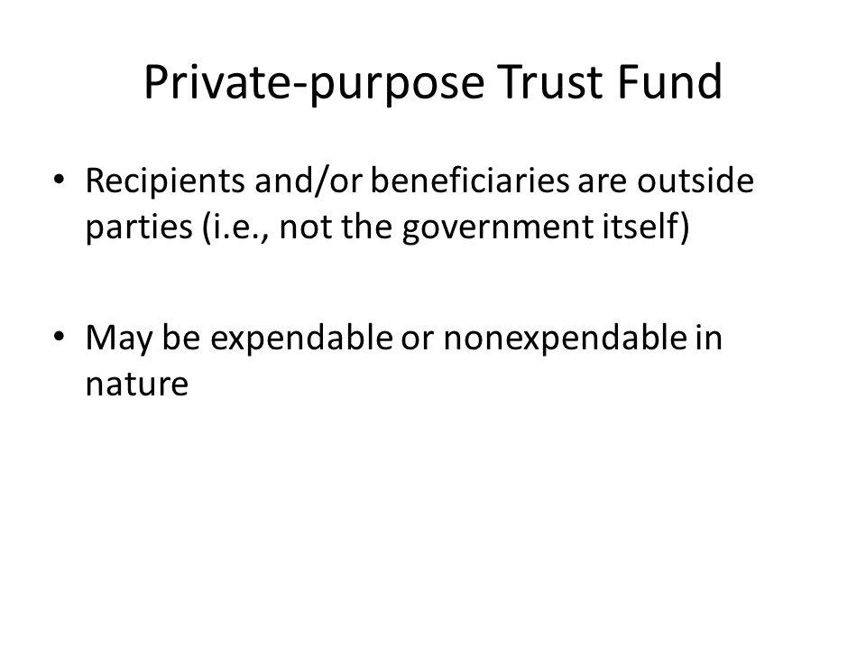 Private-purpose Trust Fund