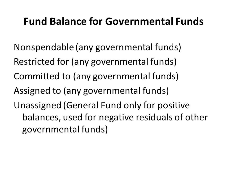 Fund Balance for Governmental Funds