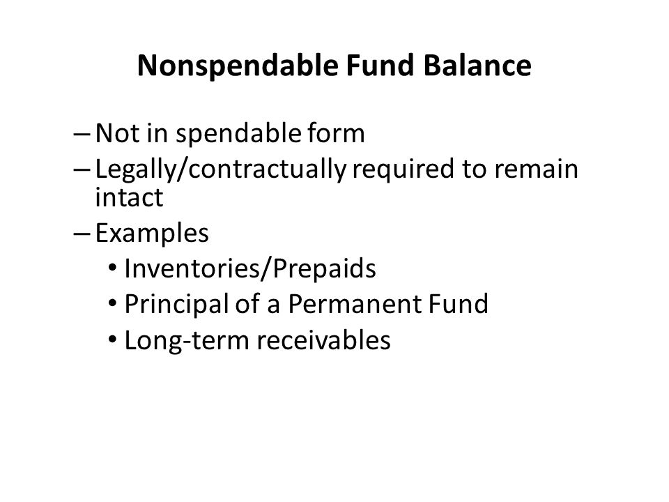 Nonspendable Fund Balance