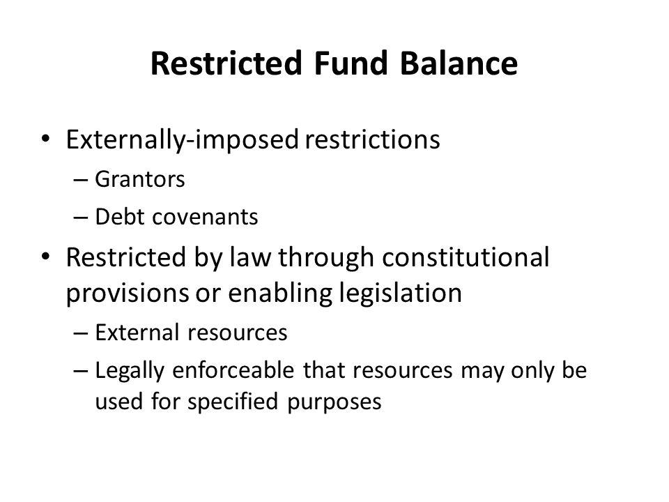 Restricted Fund Balance
