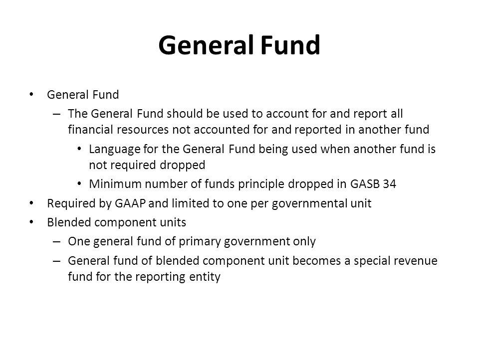 General Fund General Fund