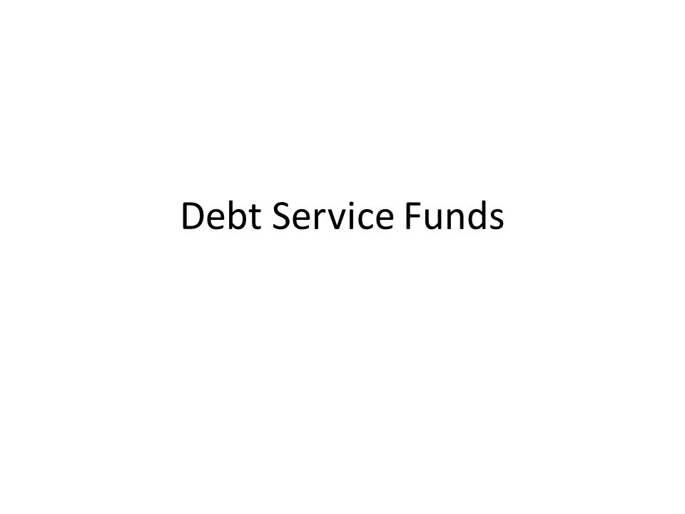Debt Service Funds