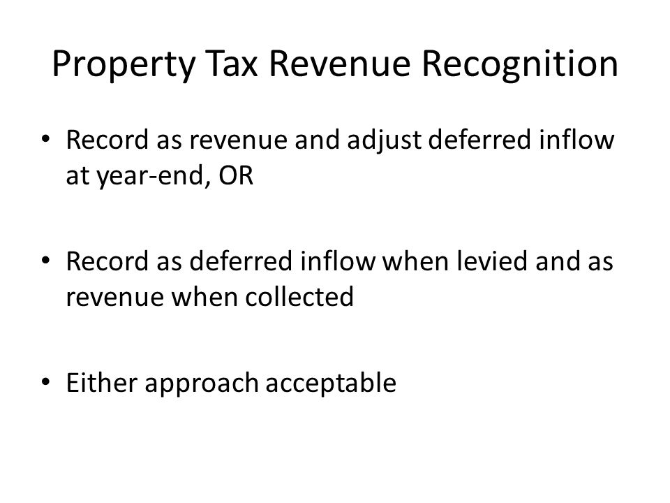 Property Tax Revenue Recognition