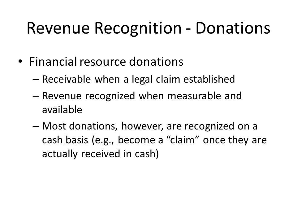 Revenue Recognition - Donations