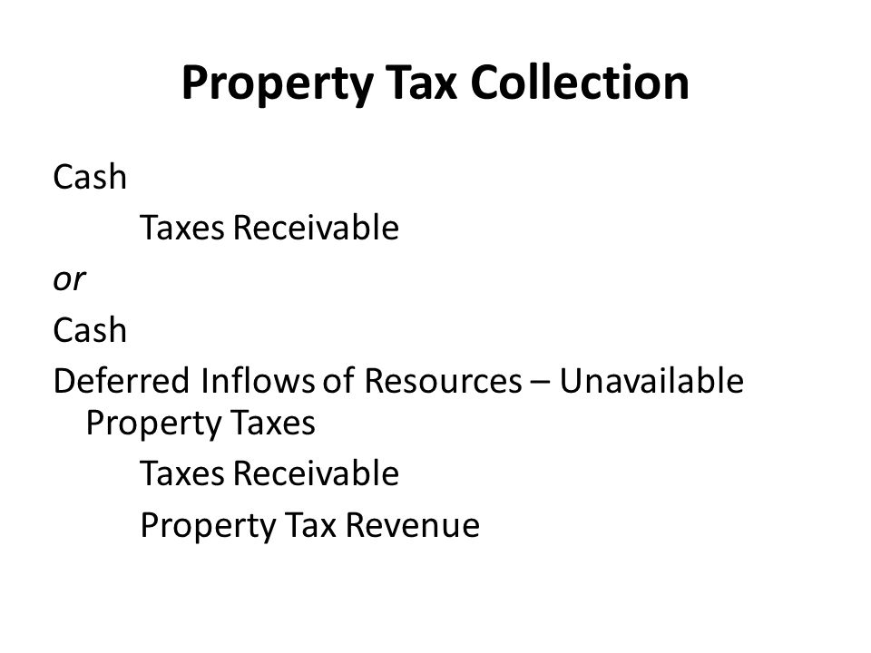 Property Tax Collection